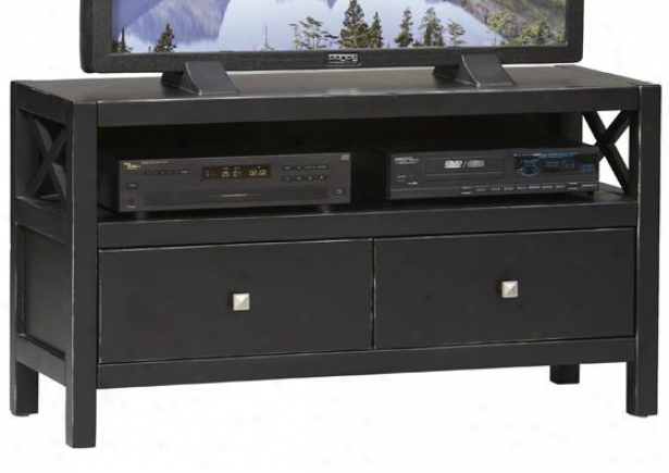 """anna Media Center - 24""""hx44""""w, Black """