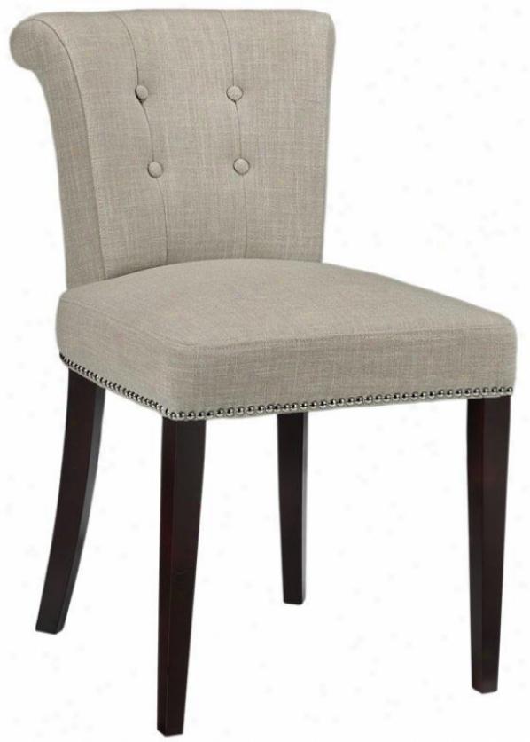 """aripn Side Chair - Set Of 2 - 34"""" 2pk, Beige Linen"""