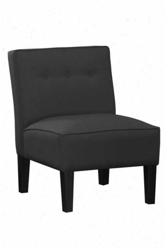 """armless Chair With Buttons - 33""""h, Mcrsude Blk-a"""