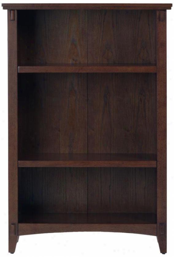 Artisan Bookshelf - 3 Shelf, Brown Oak