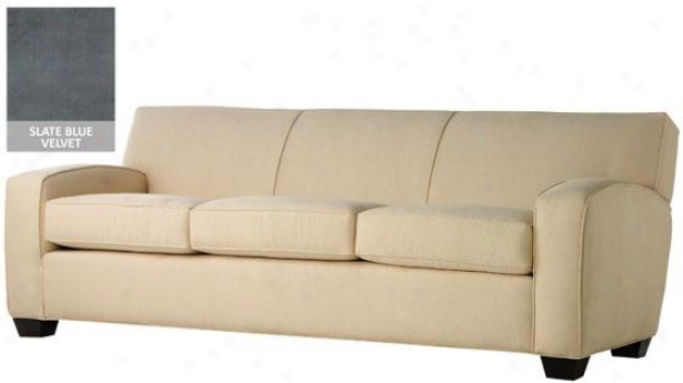 Bailey Sofa - 33x84x38, Velvet Slt Blue