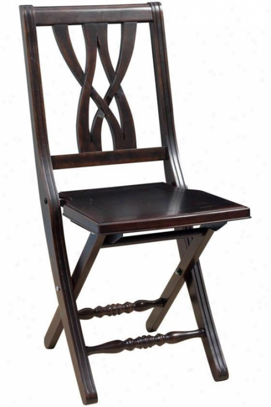 """banbury Folding Chair - 33.5""""h, Golden Black"""""