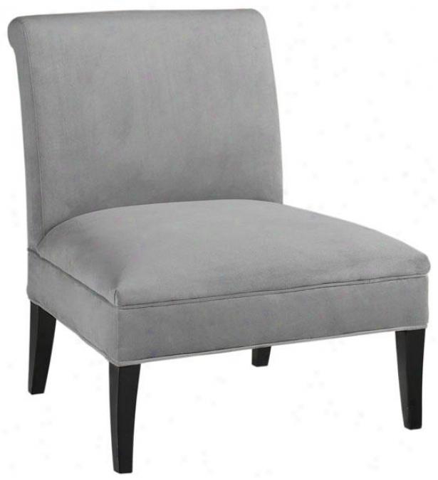 """beale Slipper Chair - 40""""hx26.75""""w, Solid Vlvt Grey"""