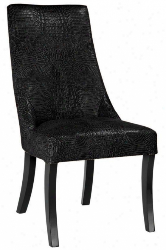 """bond Side Chair - 395.""""hx21.5""""w, Bycast Lthr Blk"""