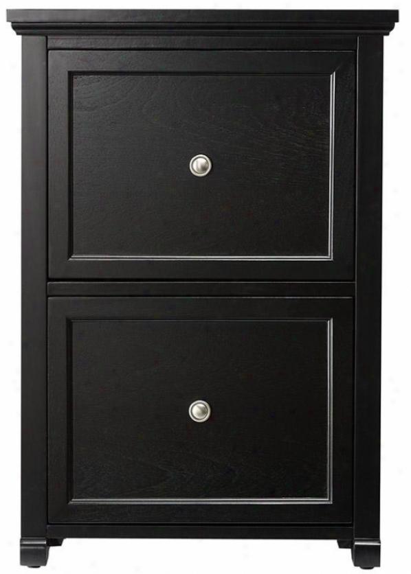 Brexleu File Cabinet - 2 Drawer, Black