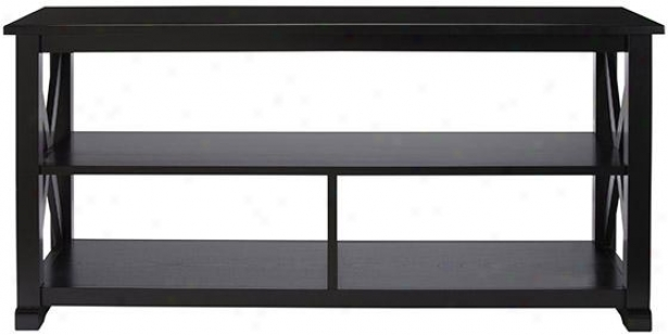 """brexley Media Stand - 47""""wx18""""dx23""""h, Black"""