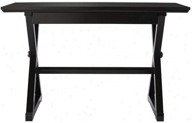 """brexley Writing Desk - 48""""wx24""""dx30""""h, Black"""