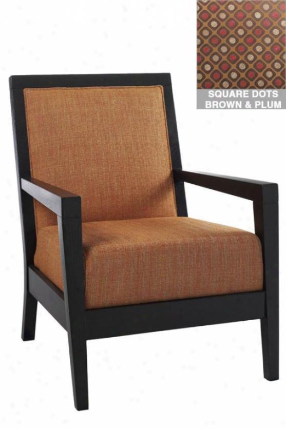 """""""cade Arm Chair - 38""""""""hx28""""""""w, Sq Dts Brwn/plm"""""""
