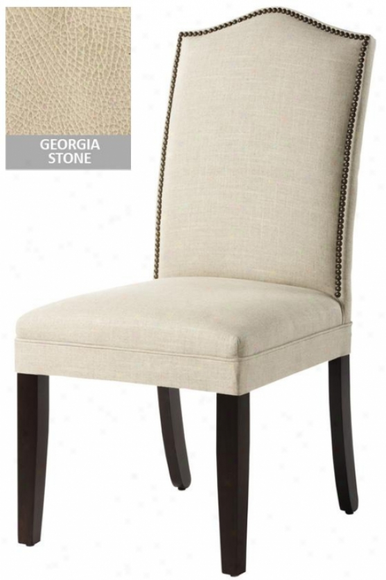 Camel-back Parsons Chair With Nallhead Trim - Camel Back, Georgia Stone