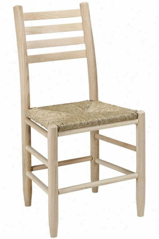 """carolina Ladder-back Side Chair - 18""""chair, Brown Wood"""