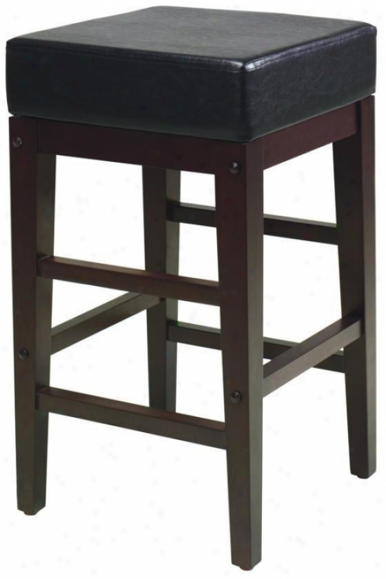 """champlain Square Stool - 25""""h, Coffde Brown"""