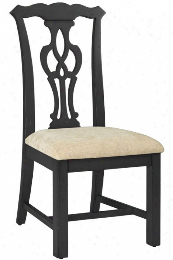 """chippendale-style Side Chair - 42""""h, Black"""