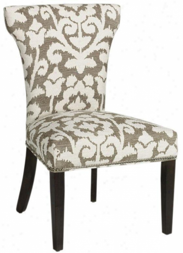 Contemporary Curved-back Parsons Chair - Shiny Chrm Nlhd, Kamala Kilm