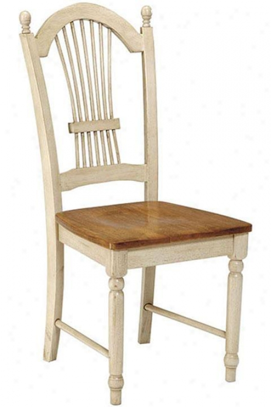"""country Cottage Chair - 39.5""""hx17.75""""w, White"""