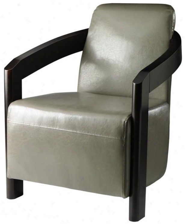 """cowel Arm Chair - 33""""hx26.5""""w, Bnd Lthr Grey"""