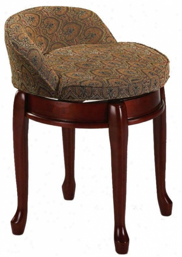 Delmar Low Back Swivel Vanity Stool Delmar Low Back Swivel