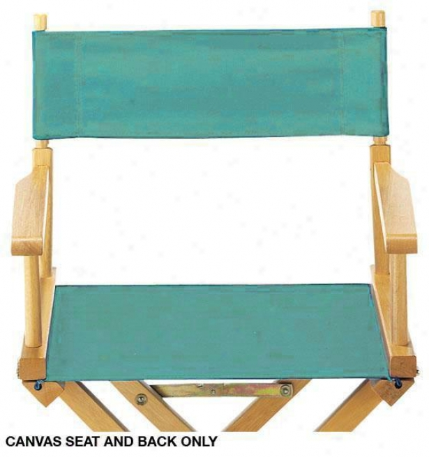 Director's Canvas Seat And Back-  Canvas, Teal