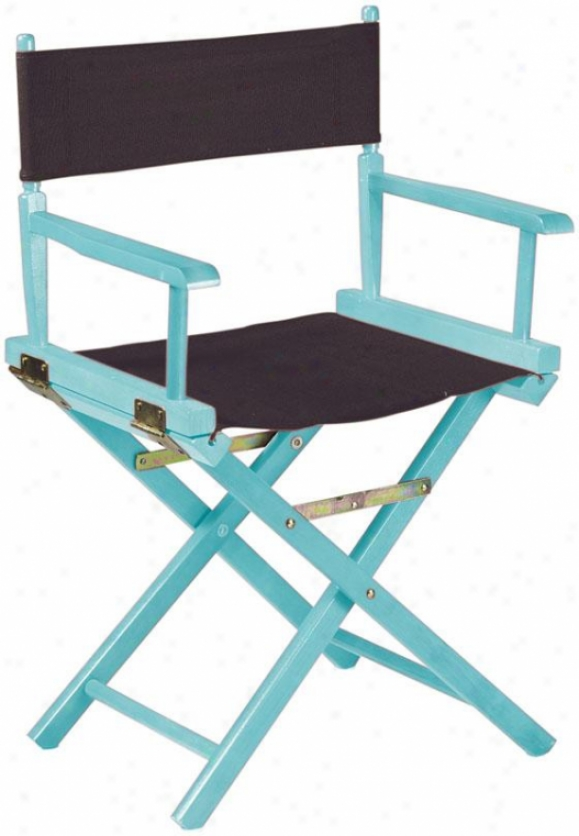 """director's Chair Frame - 18""""h, Pool Blue"""