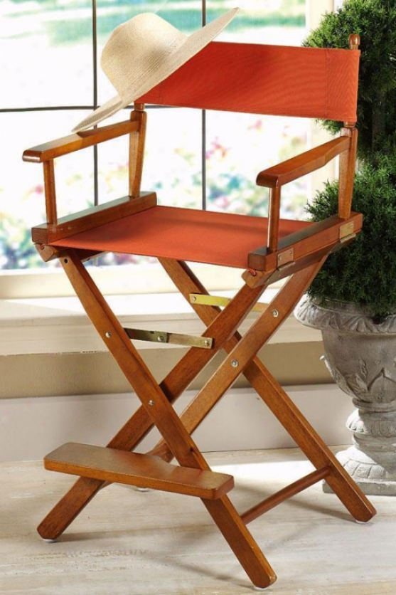 """""""director's Counter Stool Frame 24""""""""h Honey - Director's Chairs From Domestic Decorators Collection"""""""