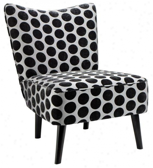 """draper Slipper Chair - 33.5""""hx25""""w, Ships Dots"""