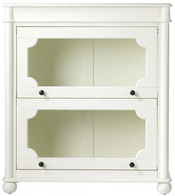 Essex 2-shelf Advocate Bookcase - 2 Shoal, Aged Cream