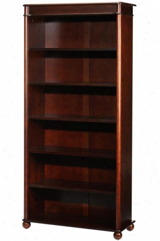 Essex Open Bookfase - Six-shelf, Suffolk Cherry