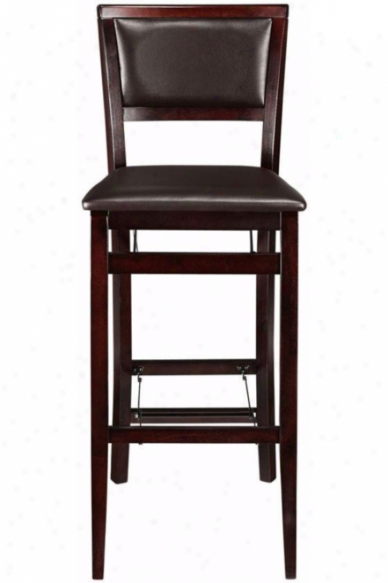 Faux Leather Foldable Bar Stool - Bar Hill, Brown