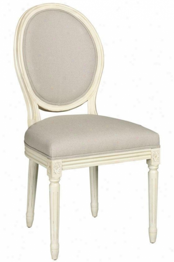 French Side Chair - Oval Back, White