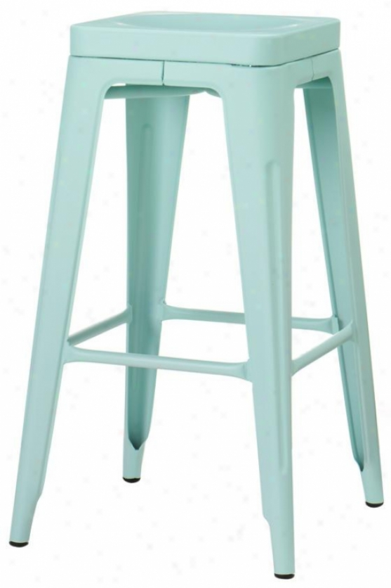 Garden Backless Bar Stool - Bar Height, Blue