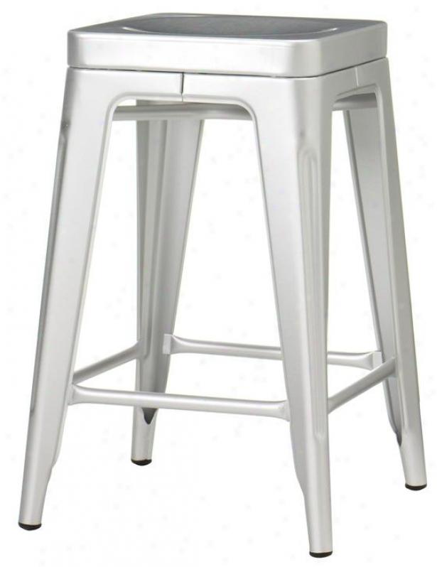 Garden Backless Counter Stool - Counter Height, Skirmish Aluminum