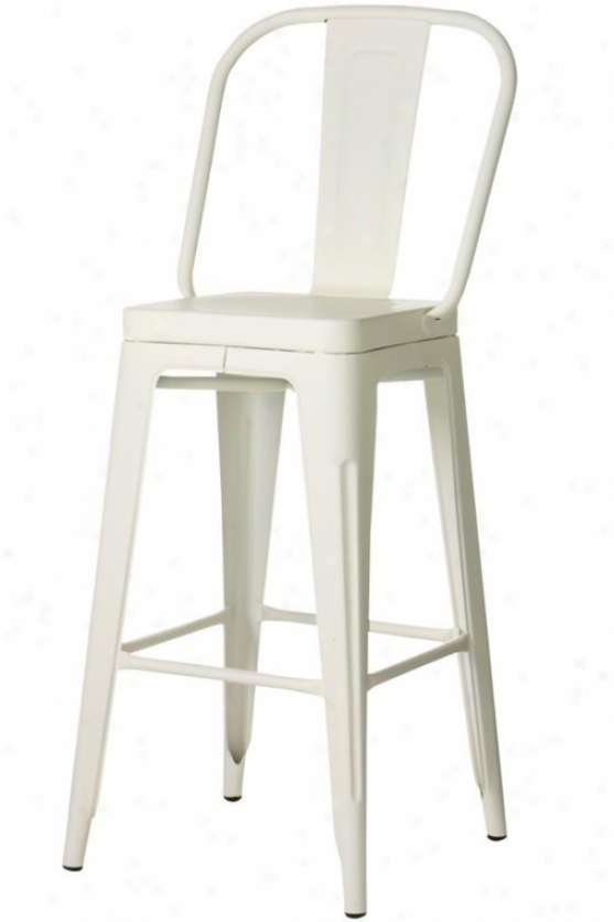 Garden Bar Stool - Bar Height, Ivory