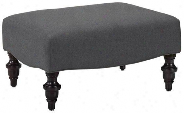 Greenwich Ottoman - Ottoman, Text Solid Grey