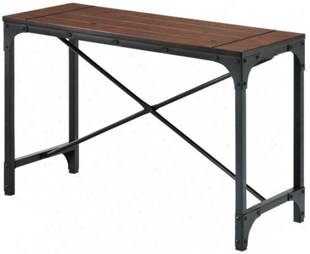 """industrial Empire Bench - 24""""hx36""""wx14""""d, Black"""