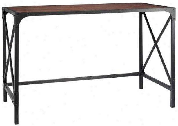 """""""industrial Empire Computer Desk - 30""""""""hx49""""""""hx25""""""""d, Black"""""""
