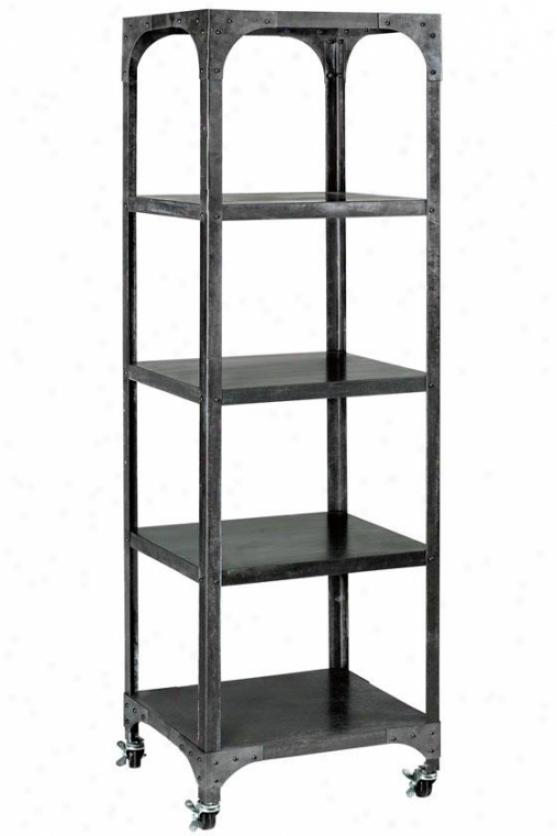 """industry Bookshelf - 17""""x14.5"""", Grey/zinc"""