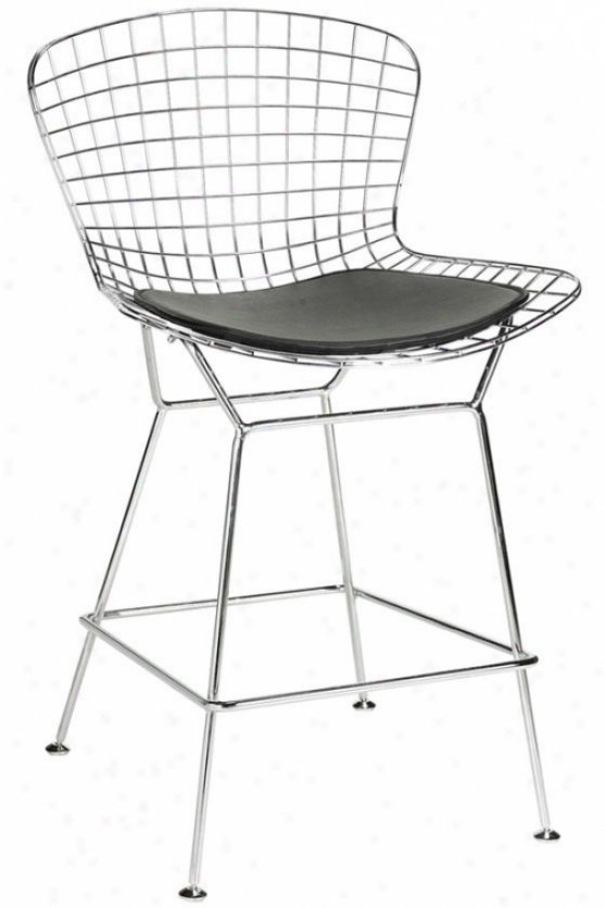 """james Counter Stool - 40""""hx21.5""""w, Silver Chrome"""