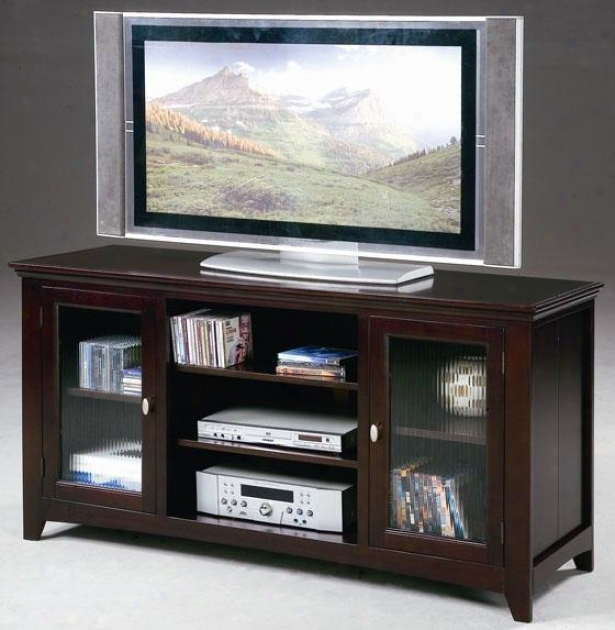 """jeffery Tv Console By the side of Storage - 60""""x18""""x30"""", Maroon"""