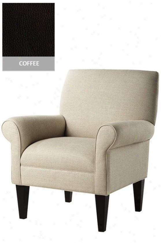 """kenter Arm Chair - 39""""hx34""""w, Carolina Coffee"""