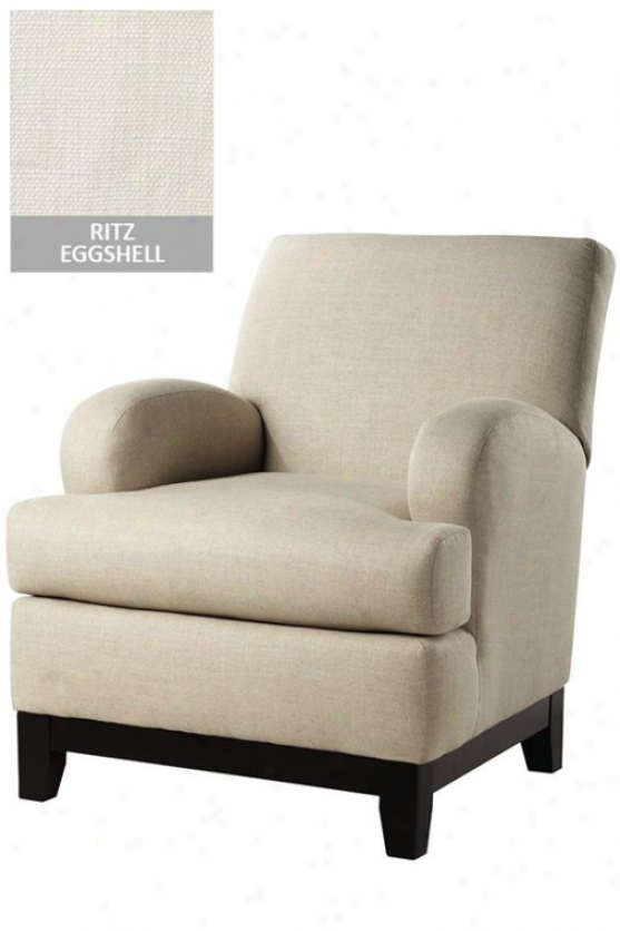 """kenter Club Chair - 37""""hx36""""w, Ritz Eggshell"""