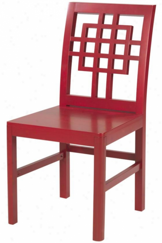 """knot Chair - 36""""hx19""""x17.5"""", Red"""