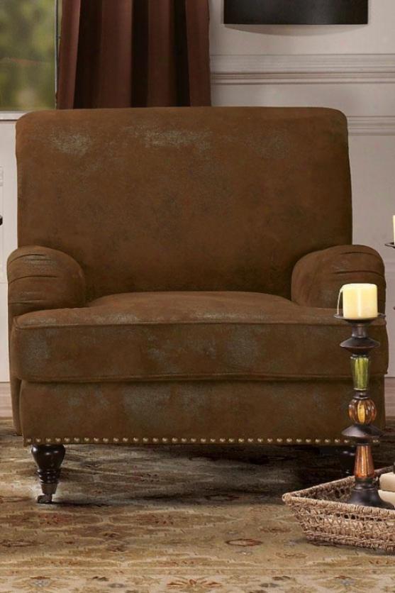 """""""lauren Arm Chair - 36""""""""hx35""""""""w, Brown"""""""