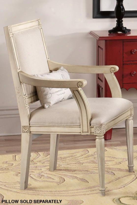 """left Bank Arm Chair - 38""""hx23""""wx22""""d, Cream"""