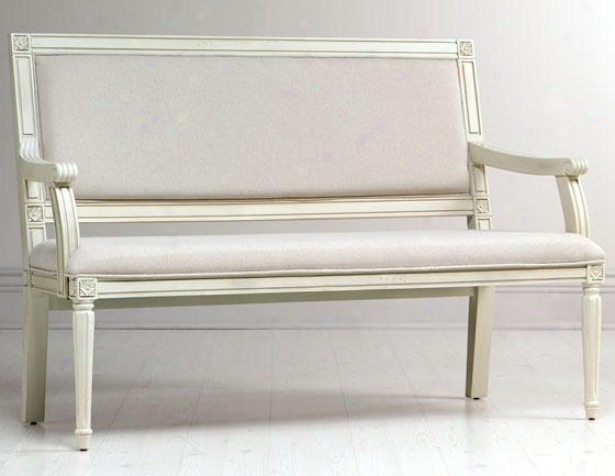 """left Bank Settee - 38""""hx55""""wx20""""d, Cream"""