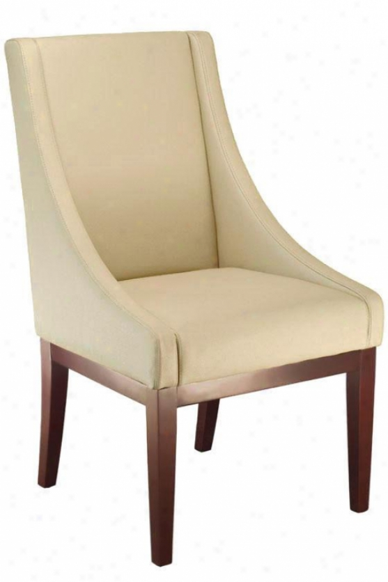 """lenox Leather Side Chair - 46""""hx22""""wx21""""d, Cream"""
