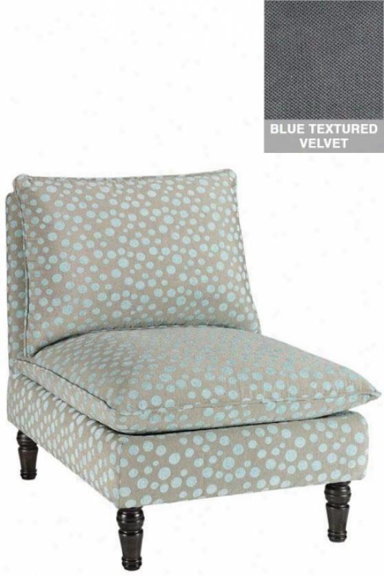 """lily Accentuate Chair - 35.5""""hx28.25""""w, Txt Velvet Blue"""