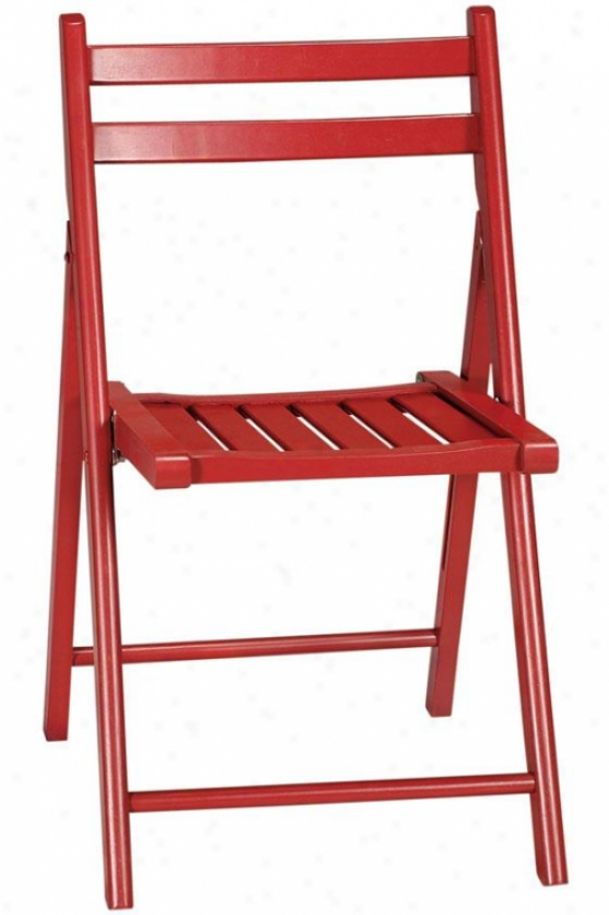 Logan Foldnig Chair - Set Of 2, Red