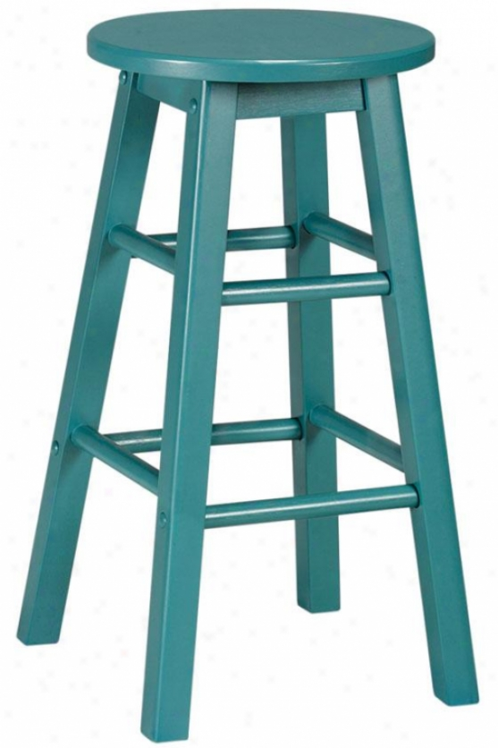 """1ogan Stool - Set Of 2 - 24""""h, Teal"""
