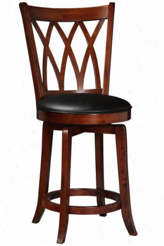 Mansfield Swivel Counter Stool - Counter Stool, Brown