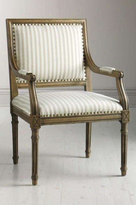 """marais Arm Chair - 38.5""""hx25""""wx28d, Ivory"""