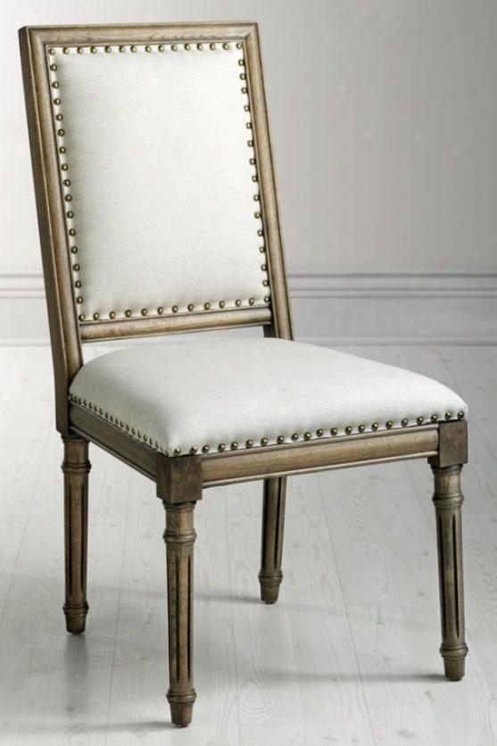 """marajs Side Chair - 38""""hx25""""w, Solid Ivory"""